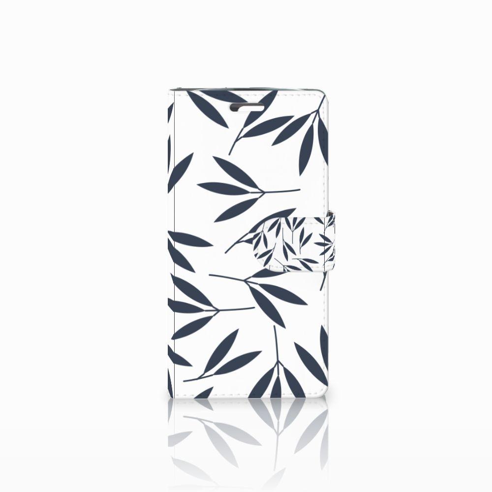 LG K10 2015 Boekhoesje Design Leaves Blue