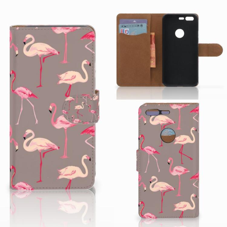 Google Pixel Telefoonhoesje met Pasjes Flamingo
