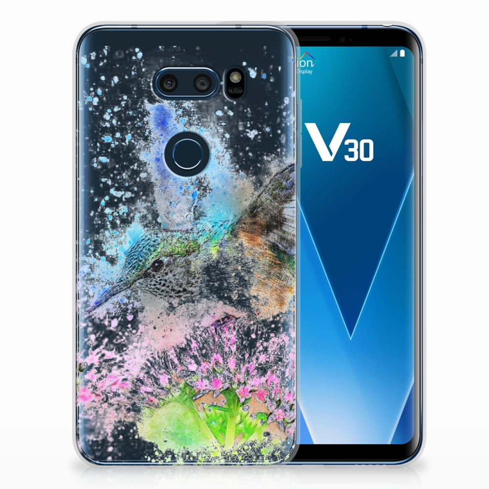 LG V30 TPU Hoesje Design Vogel