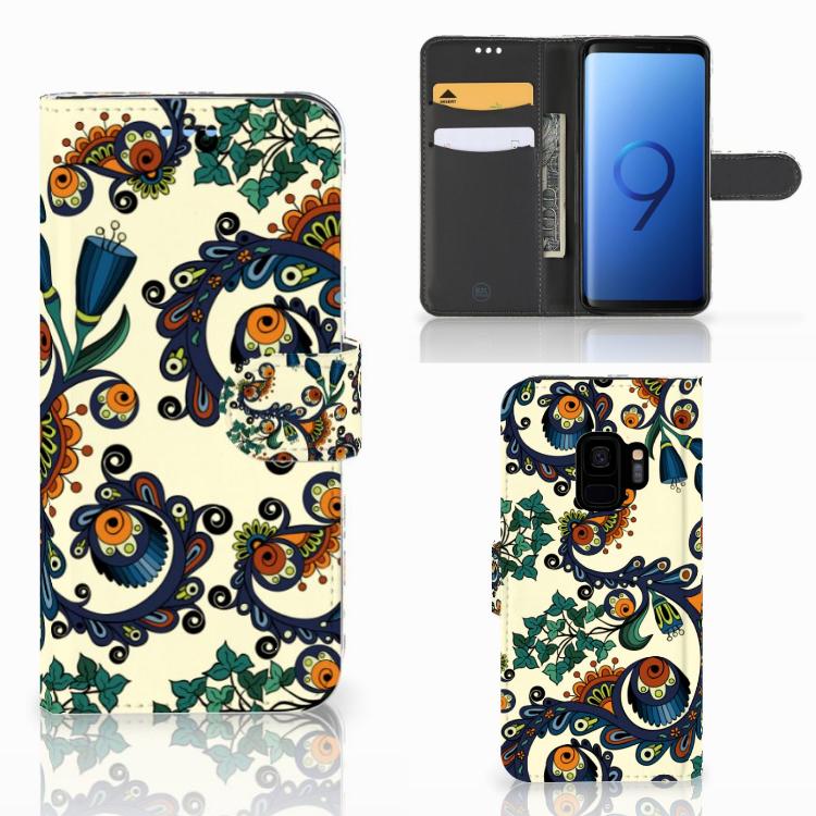 Wallet Case Samsung Galaxy S9 Barok Flower