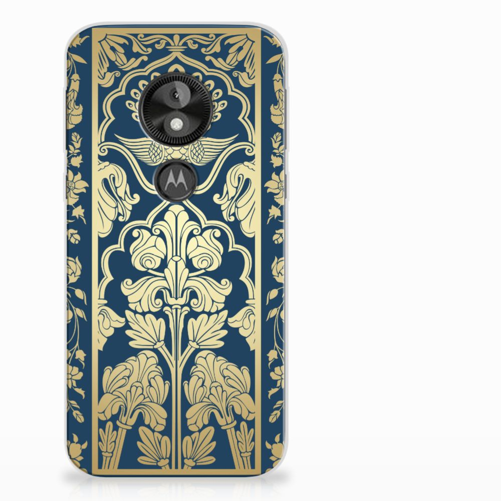 Motorola Moto E5 Play Uniek TPU Hoesje Golden Flowers