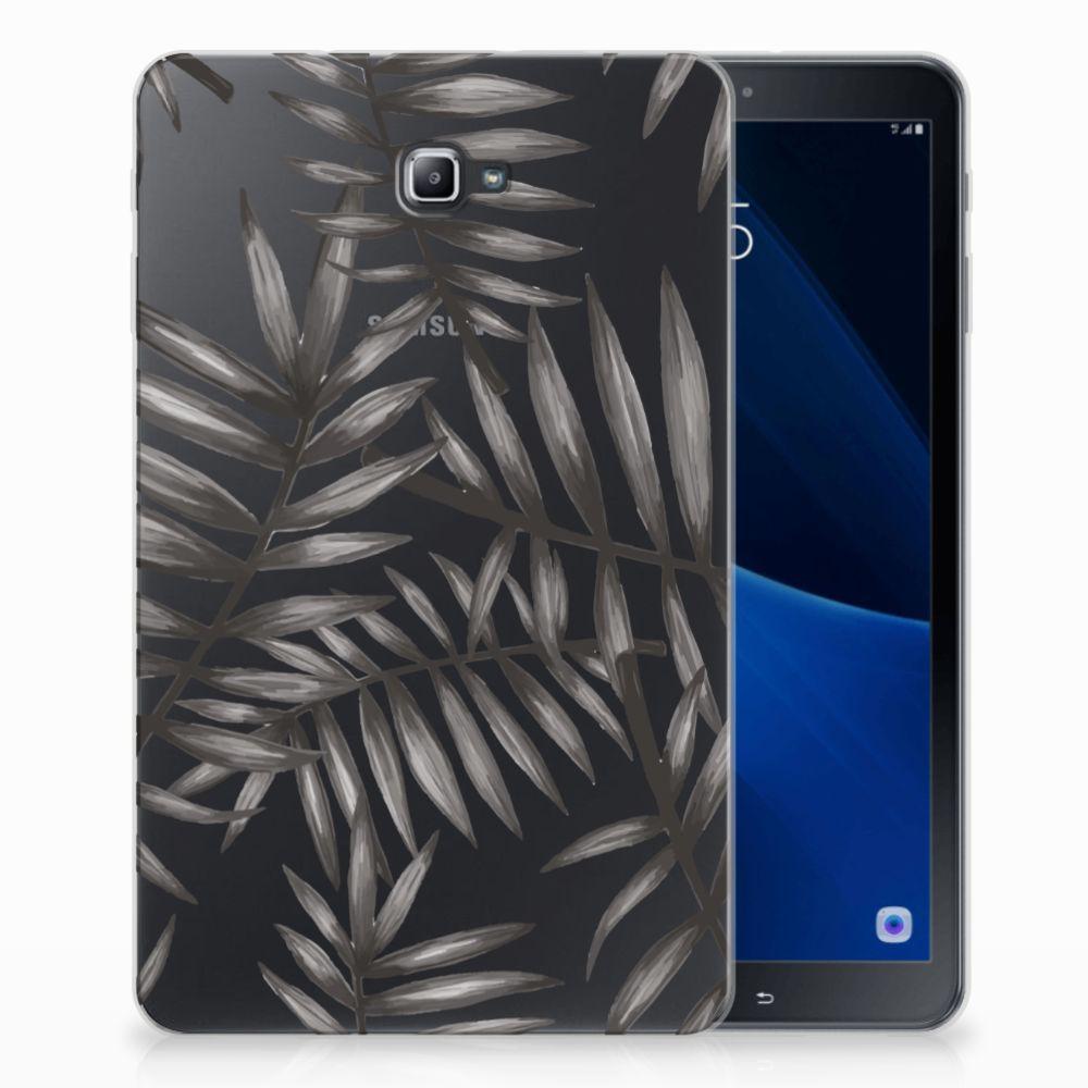 Samsung Galaxy Tab A 10.1 Uniek Tablethoesje Leaves Grey