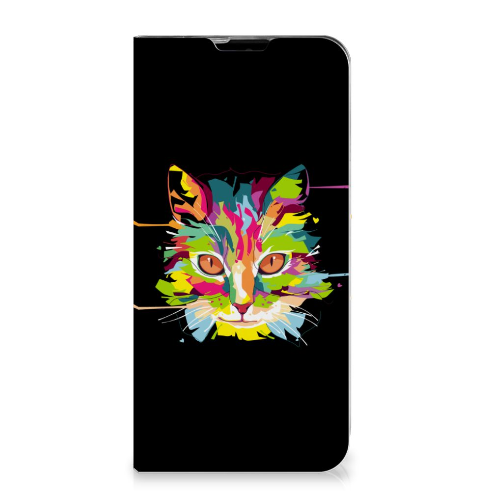 LG Q60 Magnet Case Cat Color