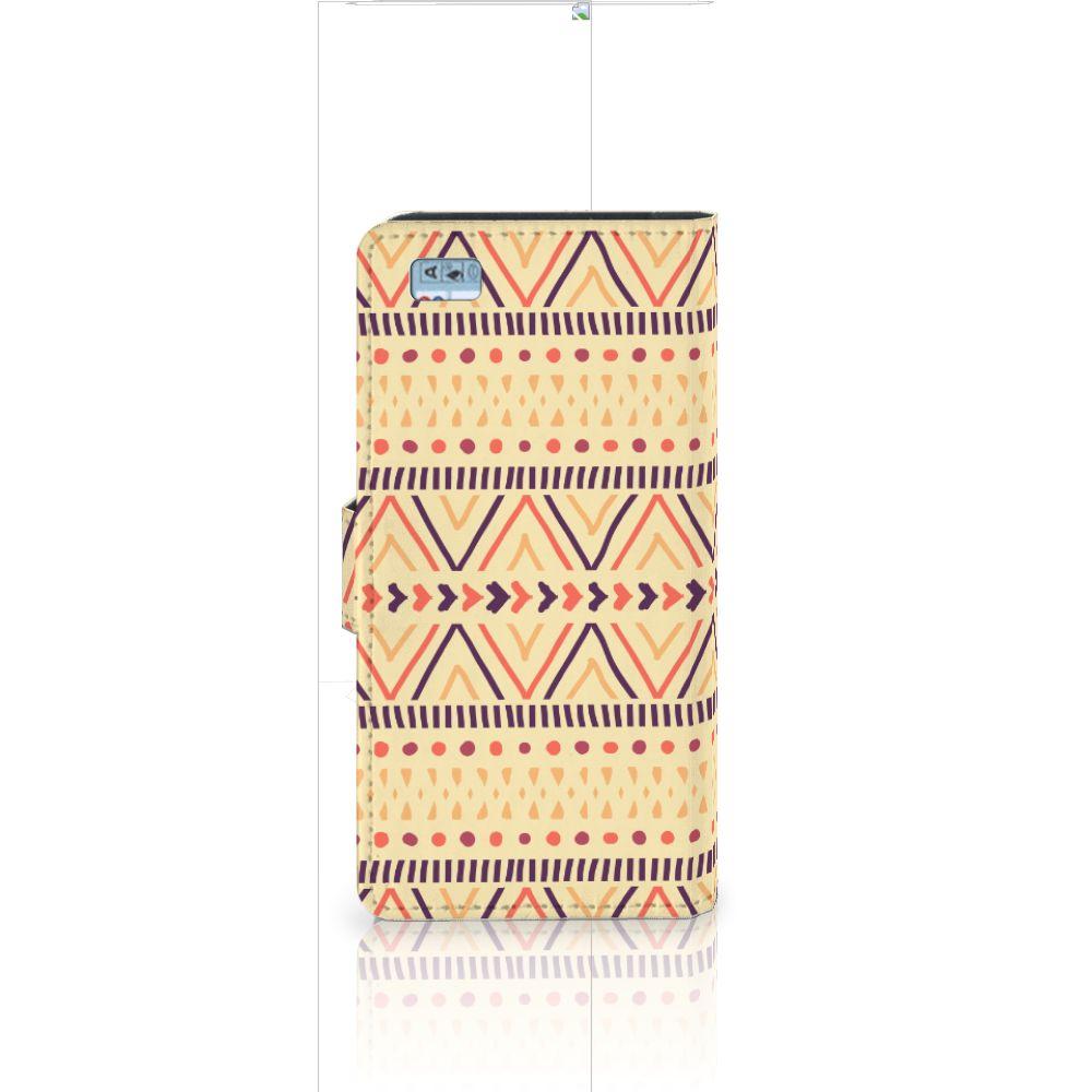 Huawei Ascend P8 Lite Telefoon Hoesje Aztec Yellow