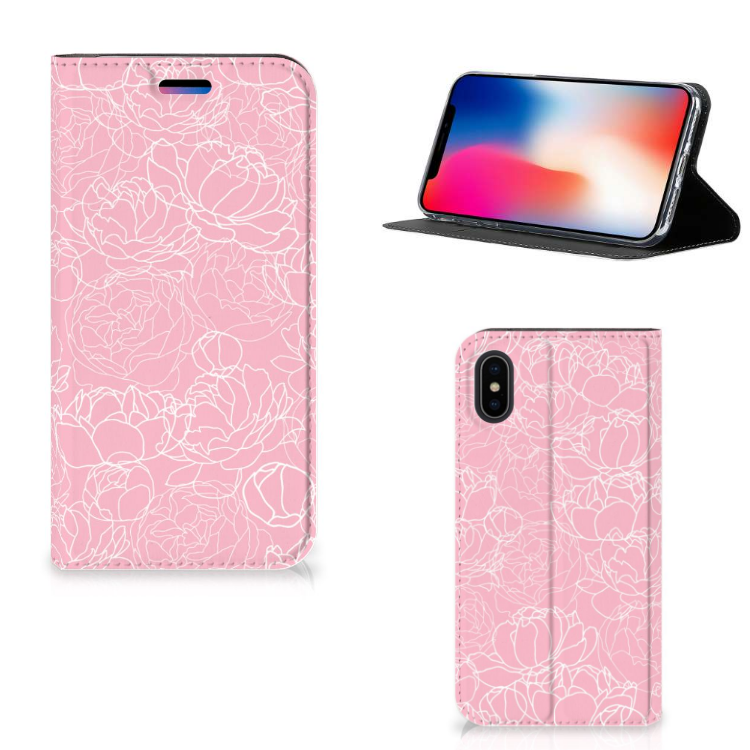 Apple iPhone X | Xs Smart Cover White Flowers