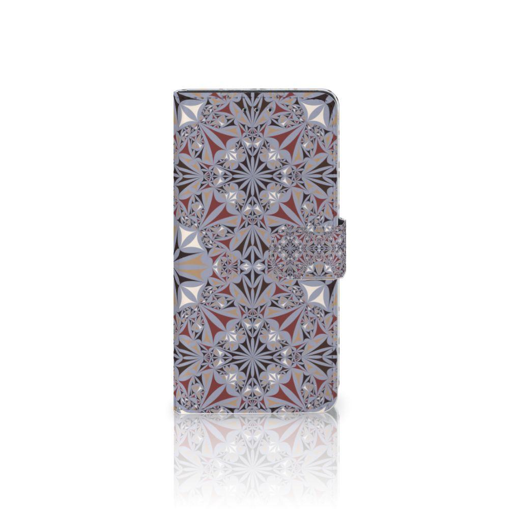 Motorola Moto Z2 Play Boekhoesje Design Flower Tiles