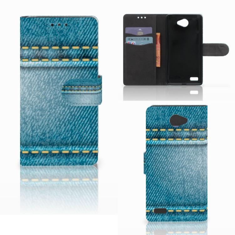 LG Bello 2 Wallet Case met Pasjes Jeans