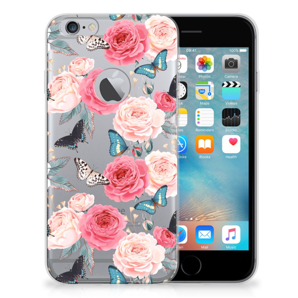 Apple iPhone 6 Plus | 6s Plus TPU Case Butterfly Roses