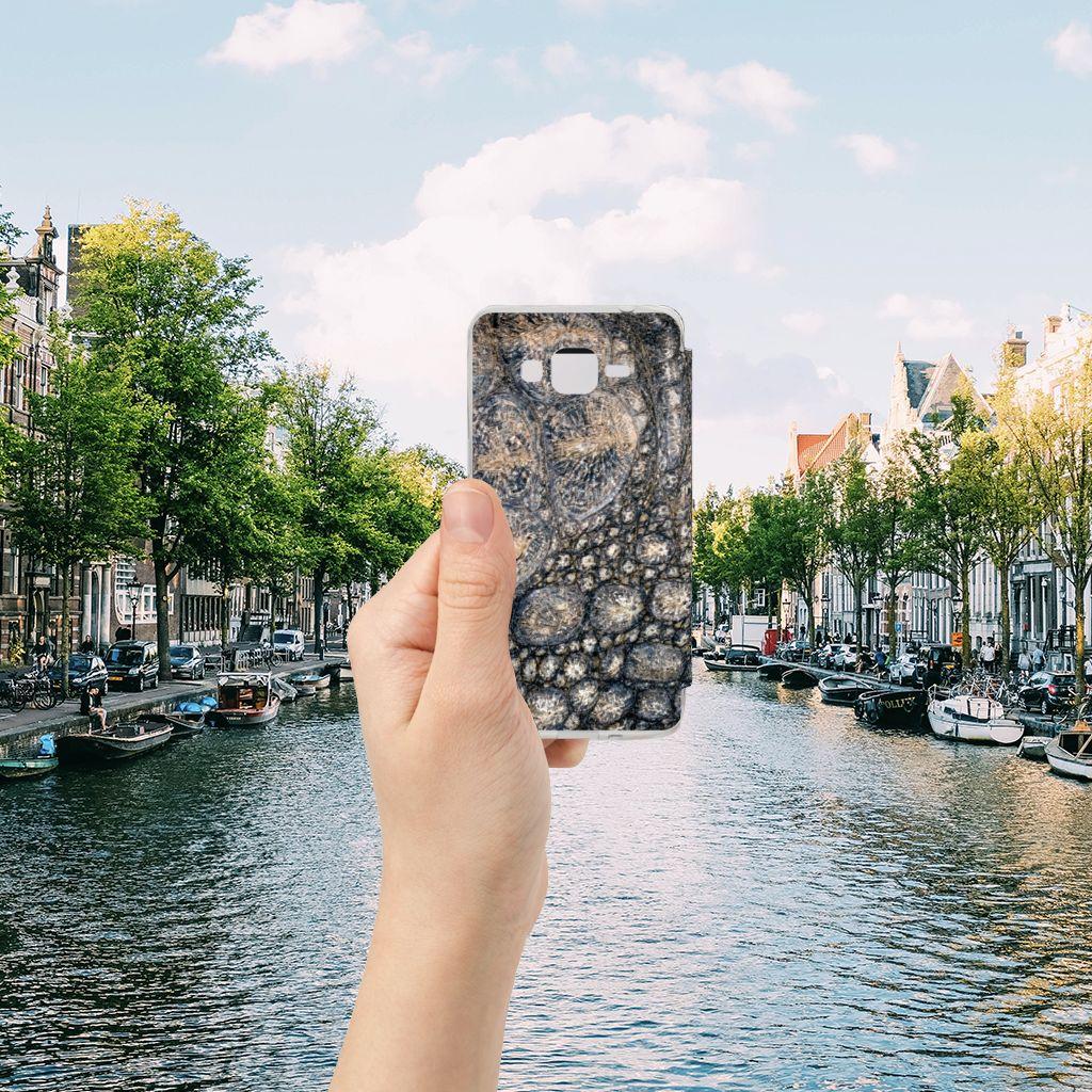 Samsung Galaxy Grand Prime Telefoonhoesje met Pasjes Krokodillenprint