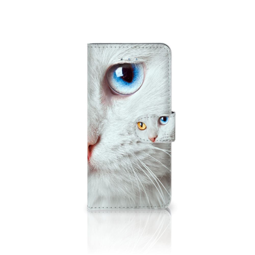 Honor 4A | Y6 Uniek Boekhoesje Witte Kat