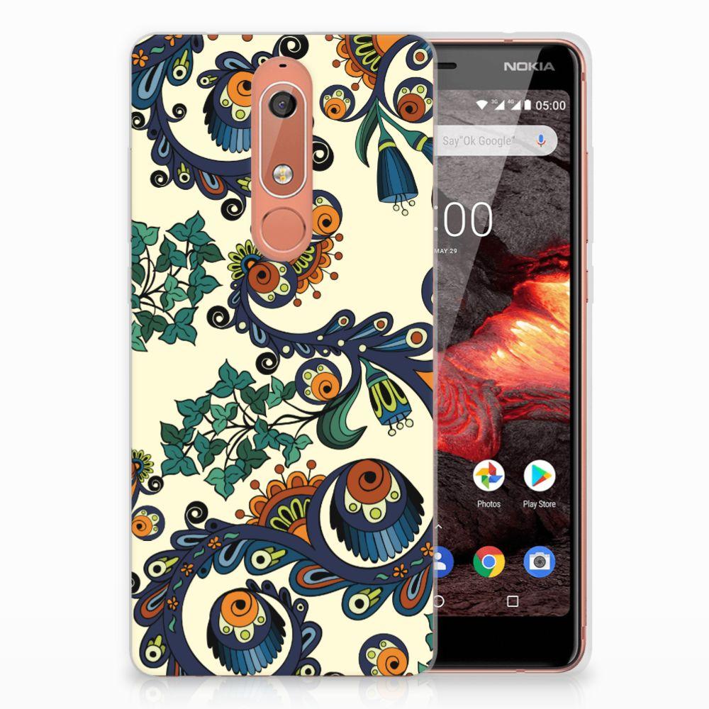 Siliconen Hoesje Nokia 5.1 (2018) Barok Flower
