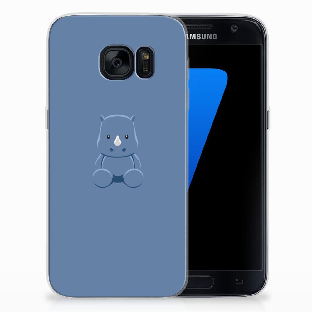 Samsung Galaxy S7 Telefoonhoesje met Naam Baby Rhino