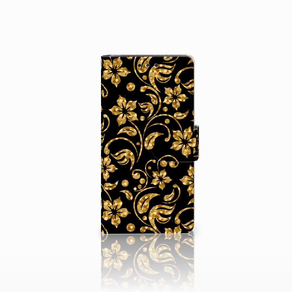 LG Bello 2 Boekhoesje Design Gouden Bloemen