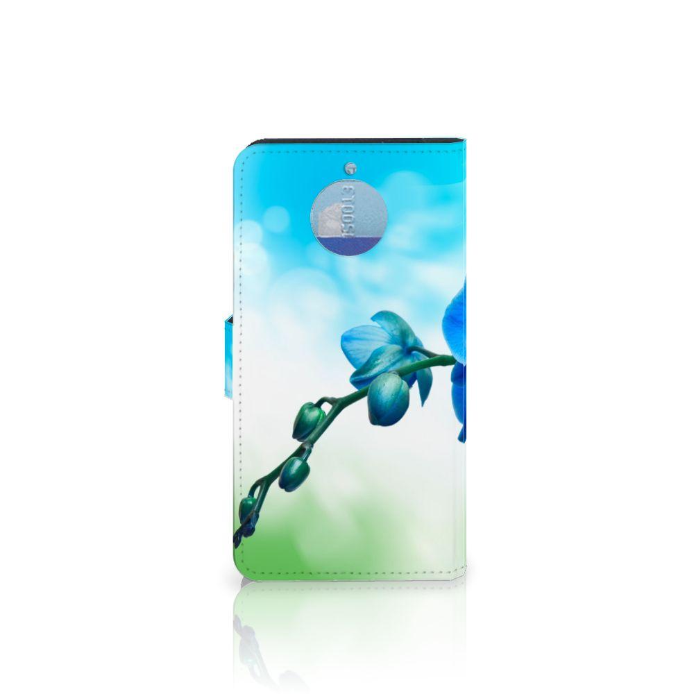 Motorola Moto G5S Plus Hoesje Orchidee Blauw