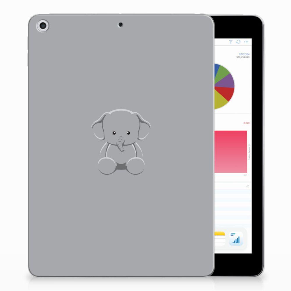 Apple iPad 9.7 2018 | 2017 Uniek Tablethoesje Baby Olifant