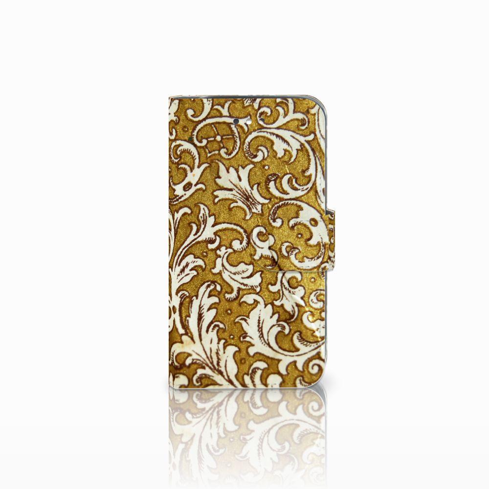 Wallet Case Samsung Galaxy S4 Barok Goud