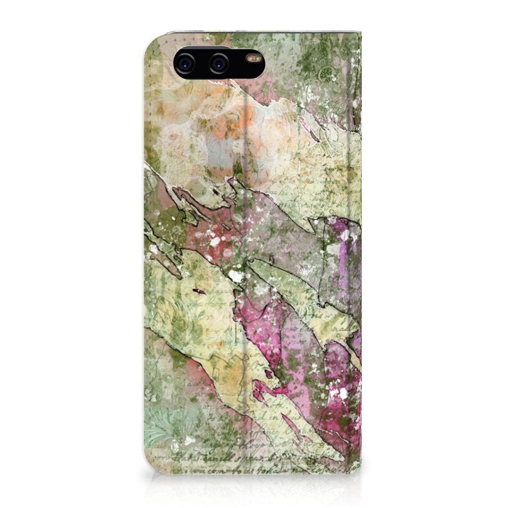 Huawei P10 Uniek Standcase Hoesje Letter Painting