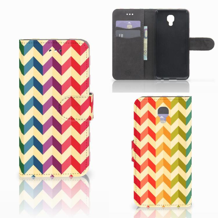 LG X Screen Telefoon Hoesje Zigzag Multi Color