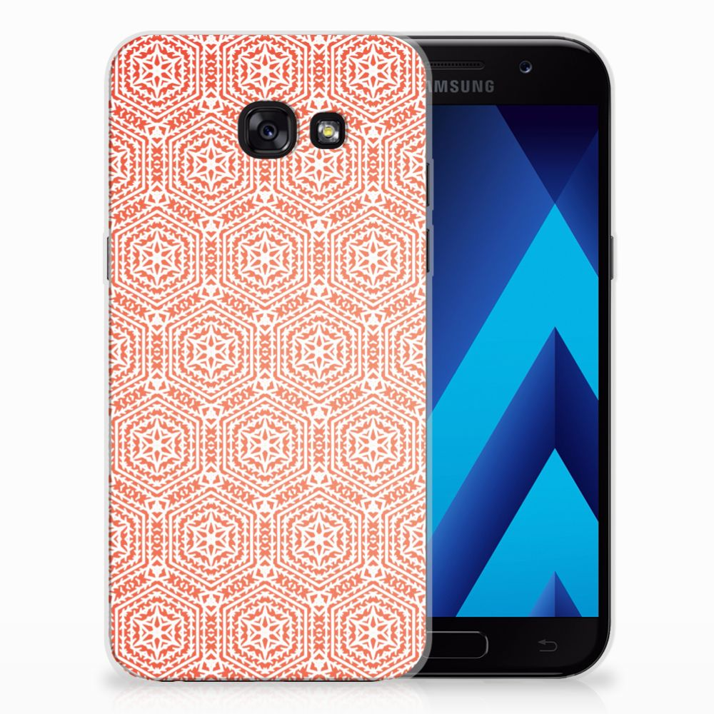 Samsung Galaxy A5 2017 TPU bumper Pattern Orange