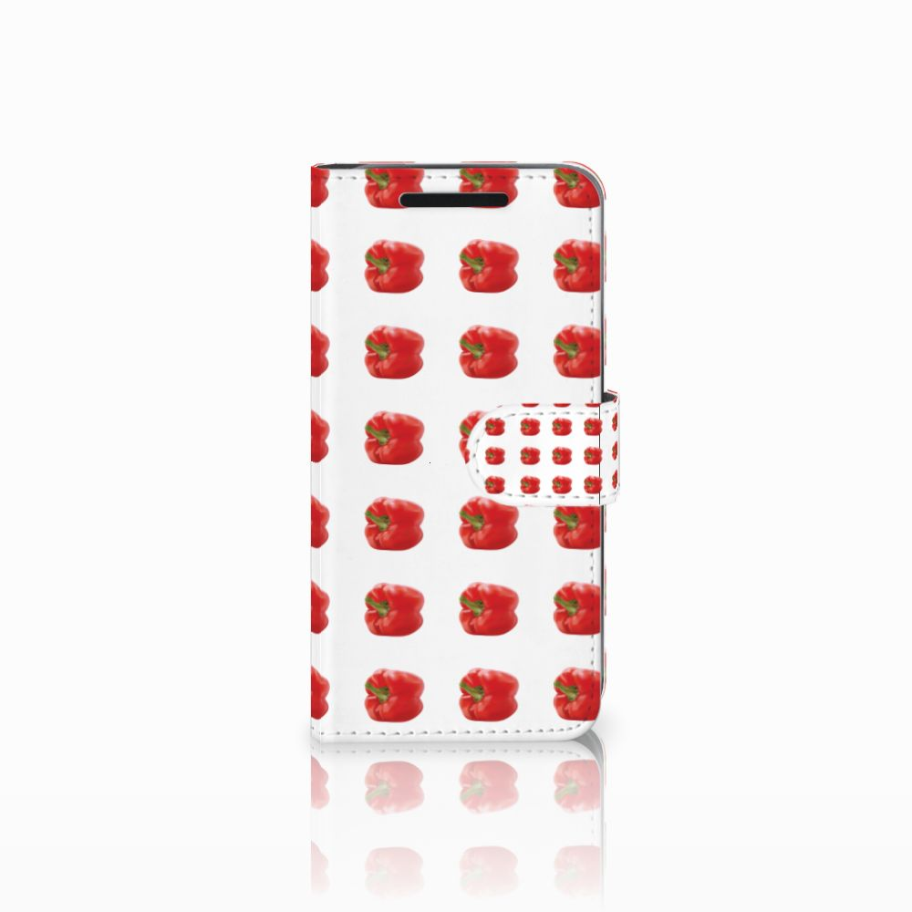 HTC One M9 Book Cover Paprika Red