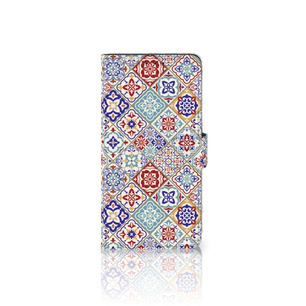 Samsung Galaxy A8 Plus (2018) Uniek Boekhoesje Tiles Color