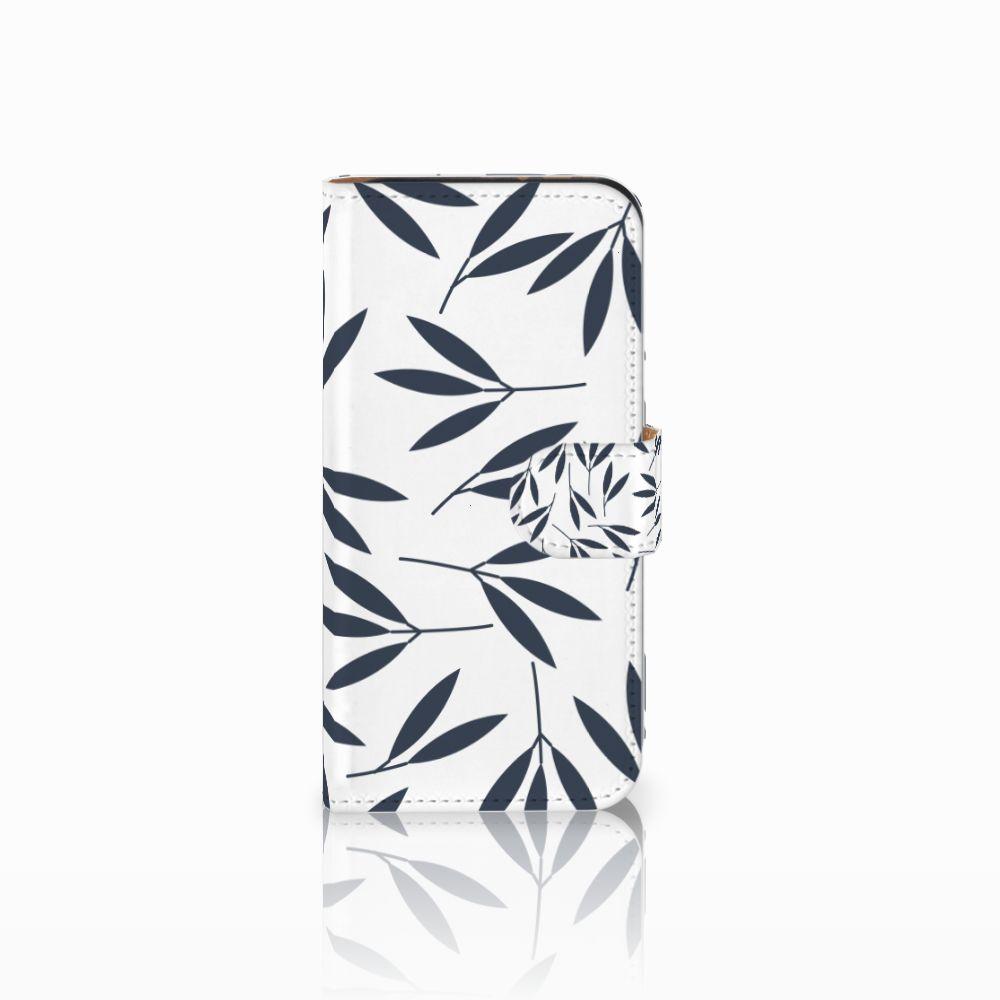 HTC One Mini 2 Boekhoesje Design Leaves Blue
