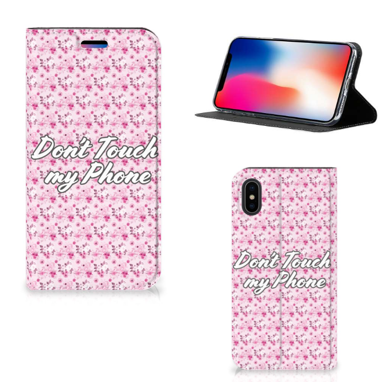 Apple iPhone X   Xs Design Case Flowers Pink DTMP