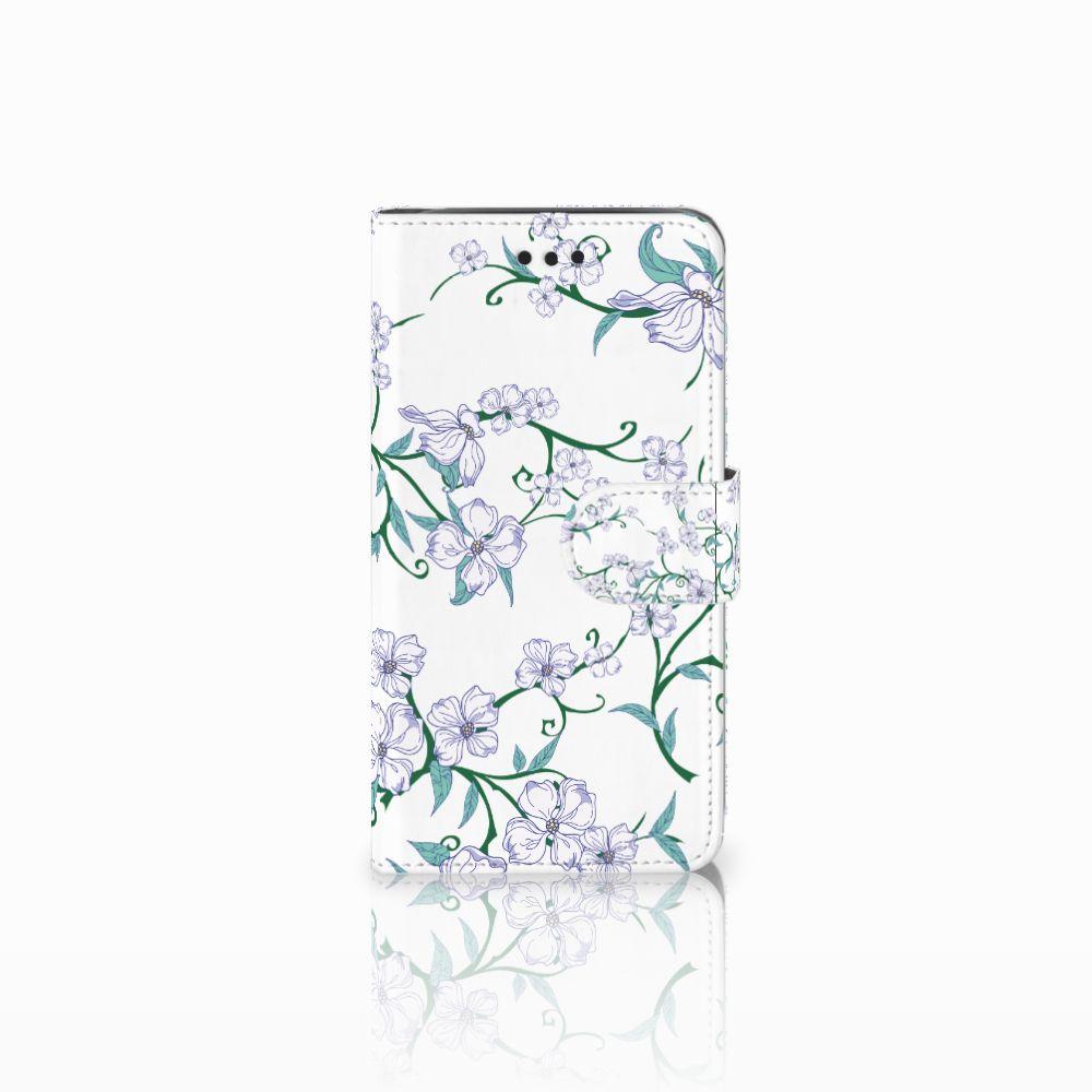 Samsung Galaxy J2 Pro 2018 Uniek Boekhoesje Blossom White
