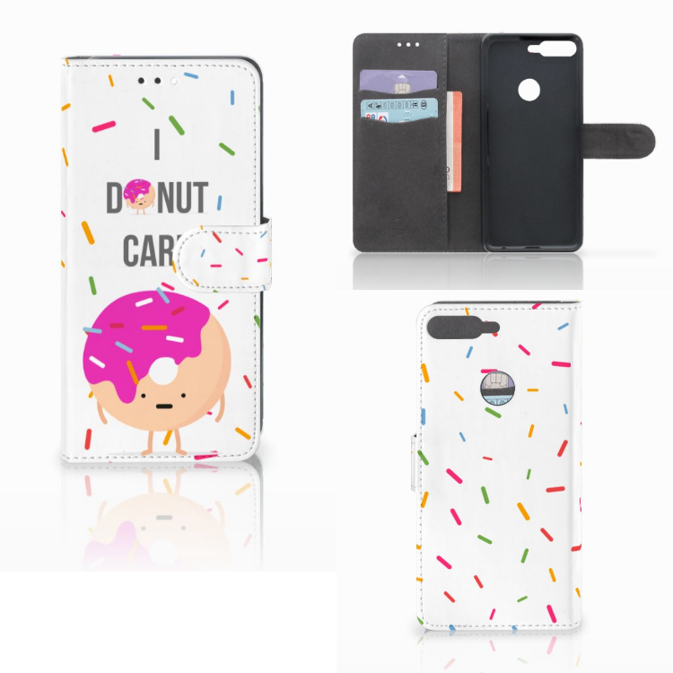 Huawei Y7 2018 Book Cover Donut Roze