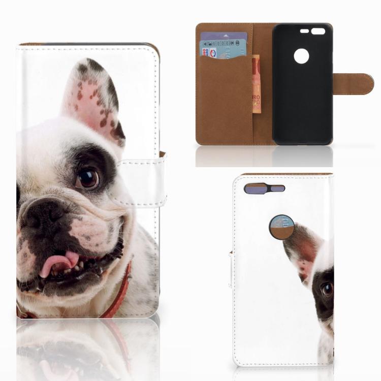 Google Pixel Telefoonhoesje met Pasjes Franse Bulldog
