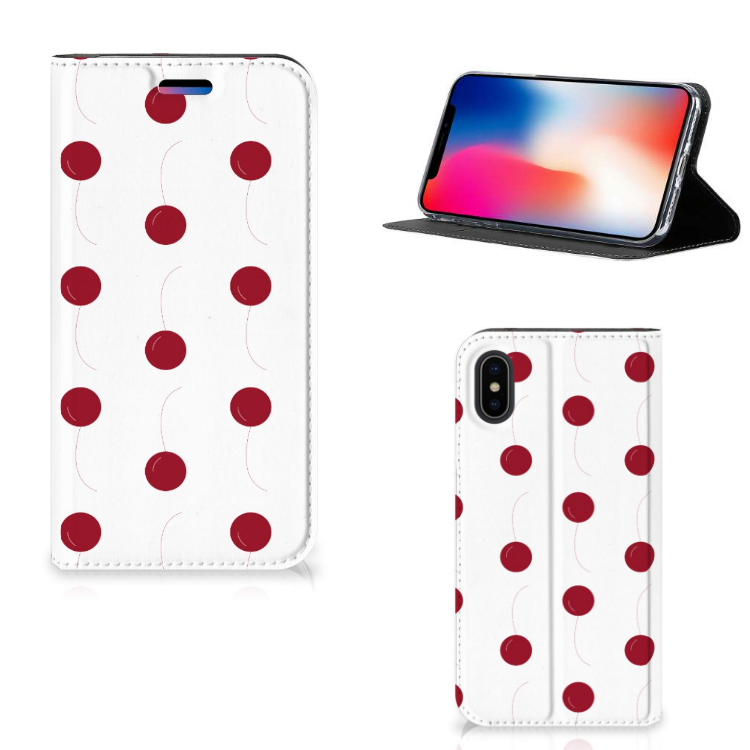 Apple iPhone X | Xs Flip Style Cover Cherries