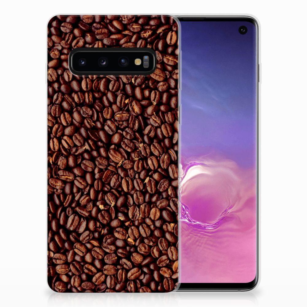 Samsung Galaxy S10 Siliconen Case Koffiebonen