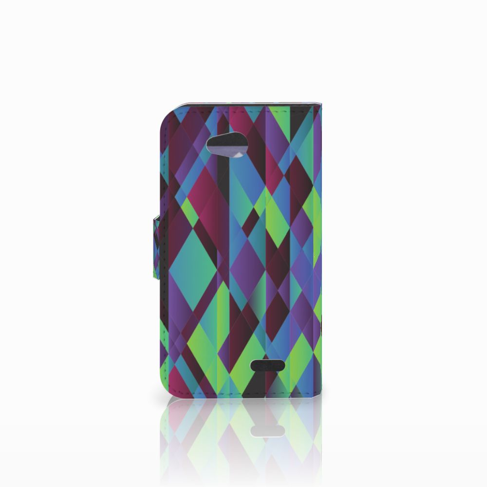 LG L90 Bookcase Abstract Green Blue