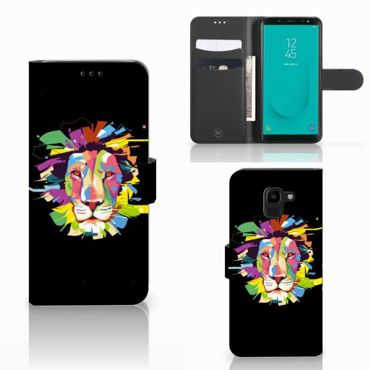 Samsung Galaxy J6 2018 Leuk Hoesje Lion Color