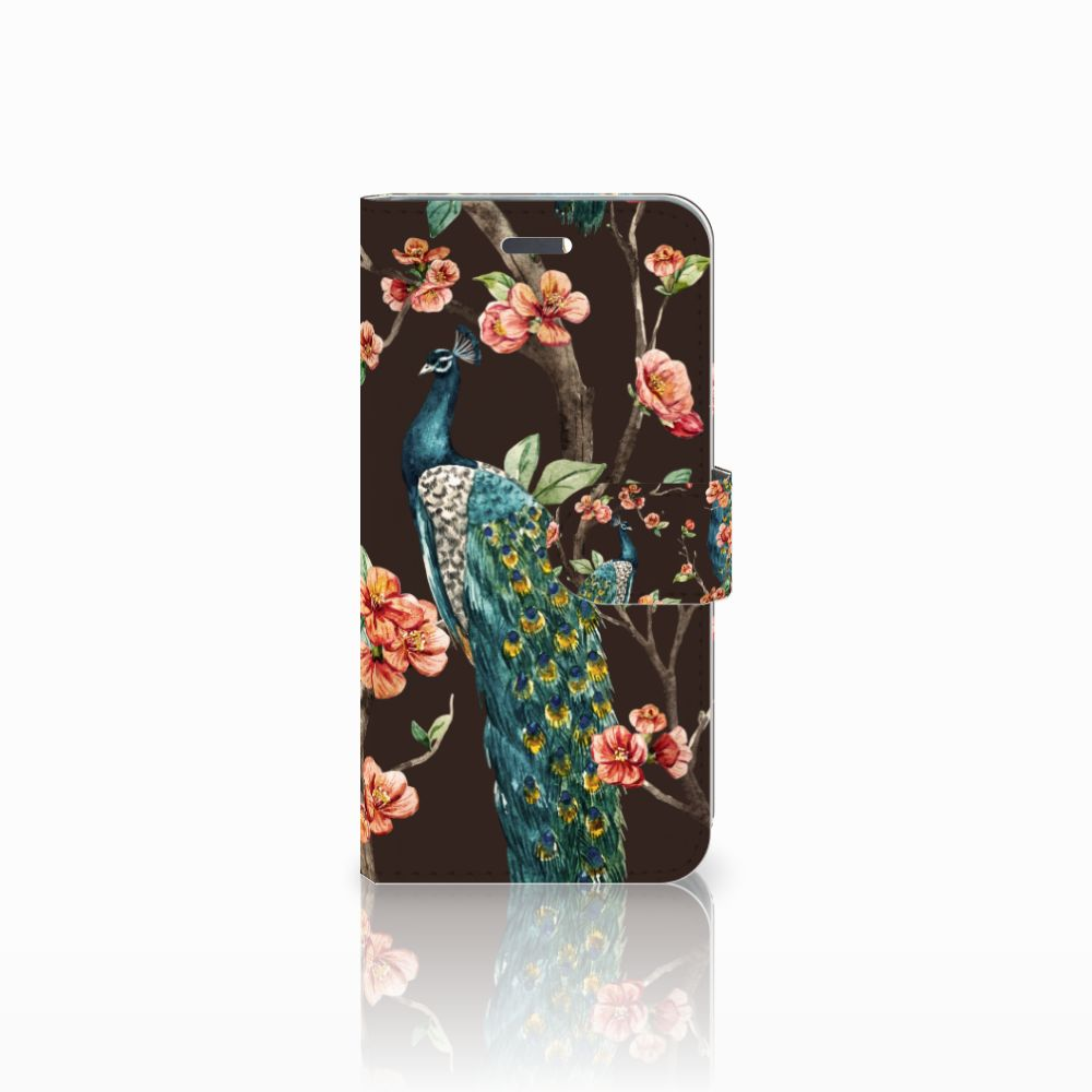 Lenovo Vibe K5 Boekhoesje Design Pauw met Bloemen
