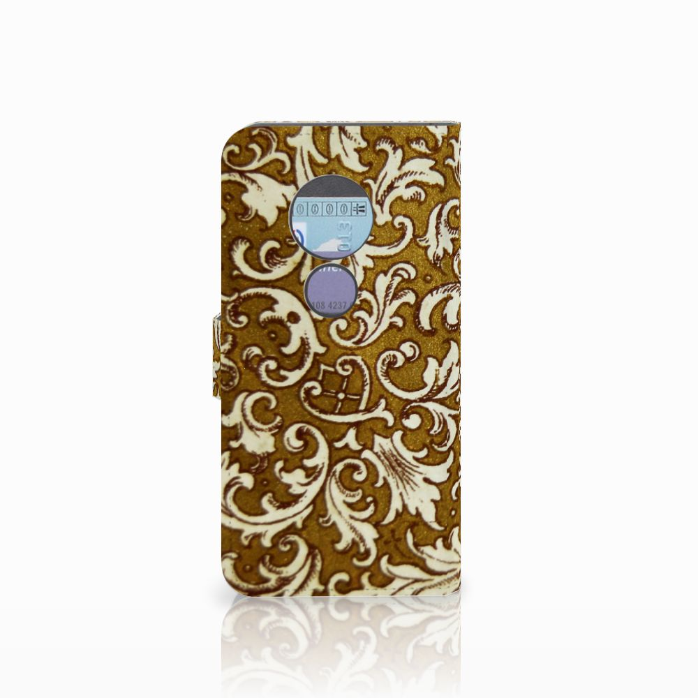 Wallet Case Motorola Moto G6 Play Barok Goud