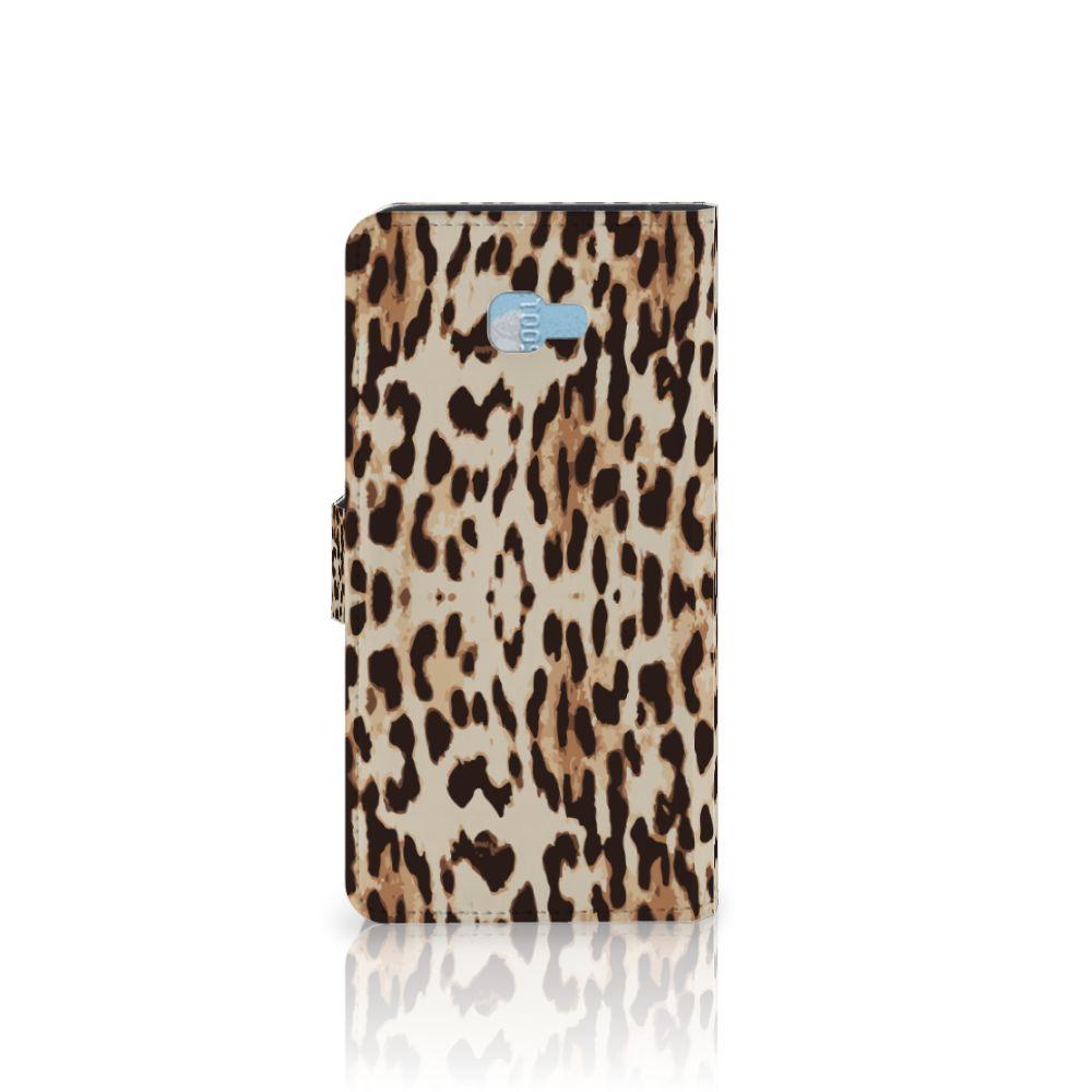 Samsung Galaxy J4 Plus (2018) Telefoonhoesje met Pasjes Leopard