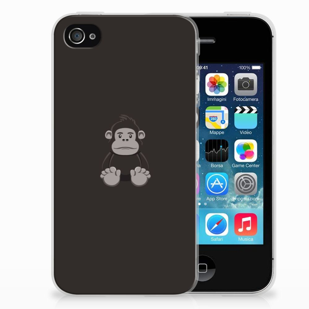Apple iPhone 4   4s Telefoonhoesje met Naam Gorilla