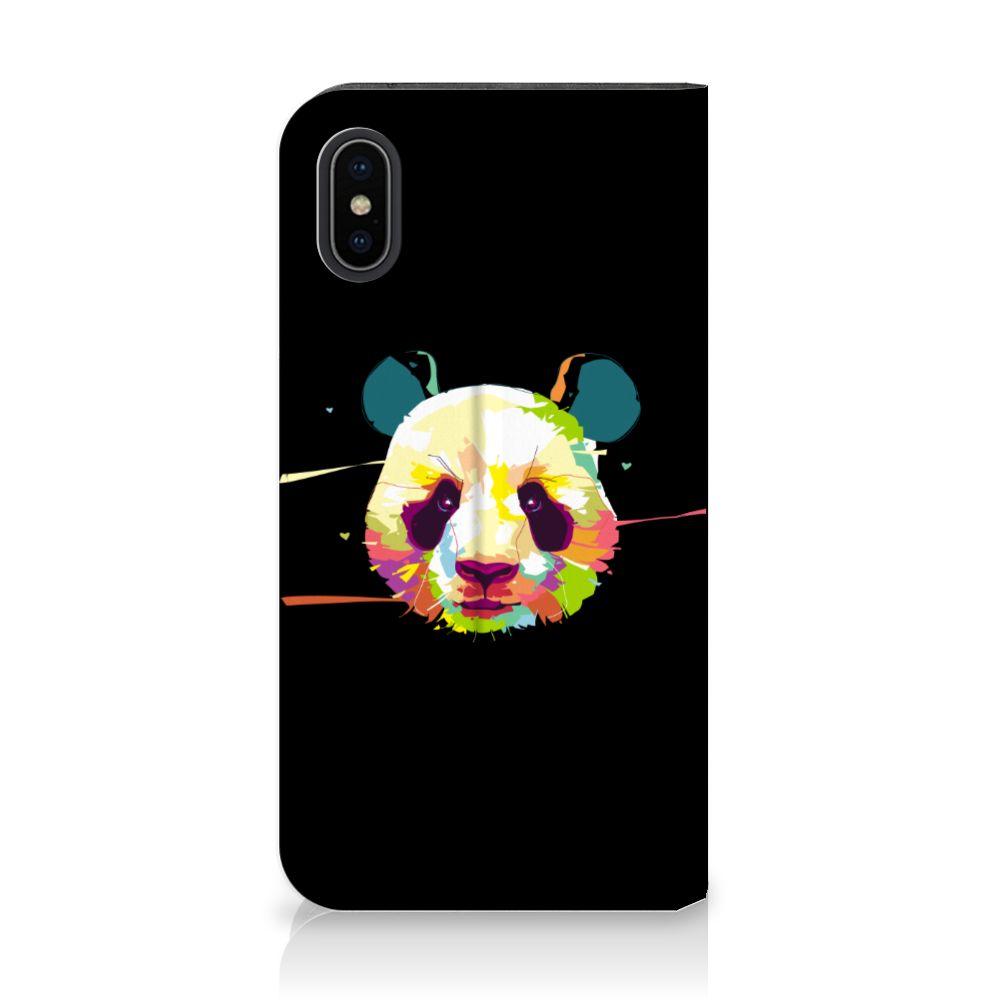 Apple iPhone X | Xs Standcase Hoesje Design Panda Color
