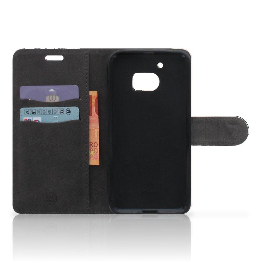 HTC 10 Bookcase Zwart Roze Vormen