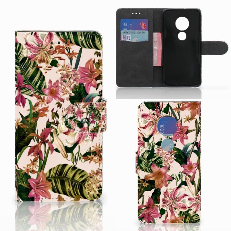 Motorola Moto G7 Play Hoesje Flowers