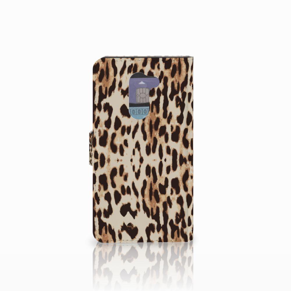 Huawei Honor 6X Telefoonhoesje met Pasjes Leopard