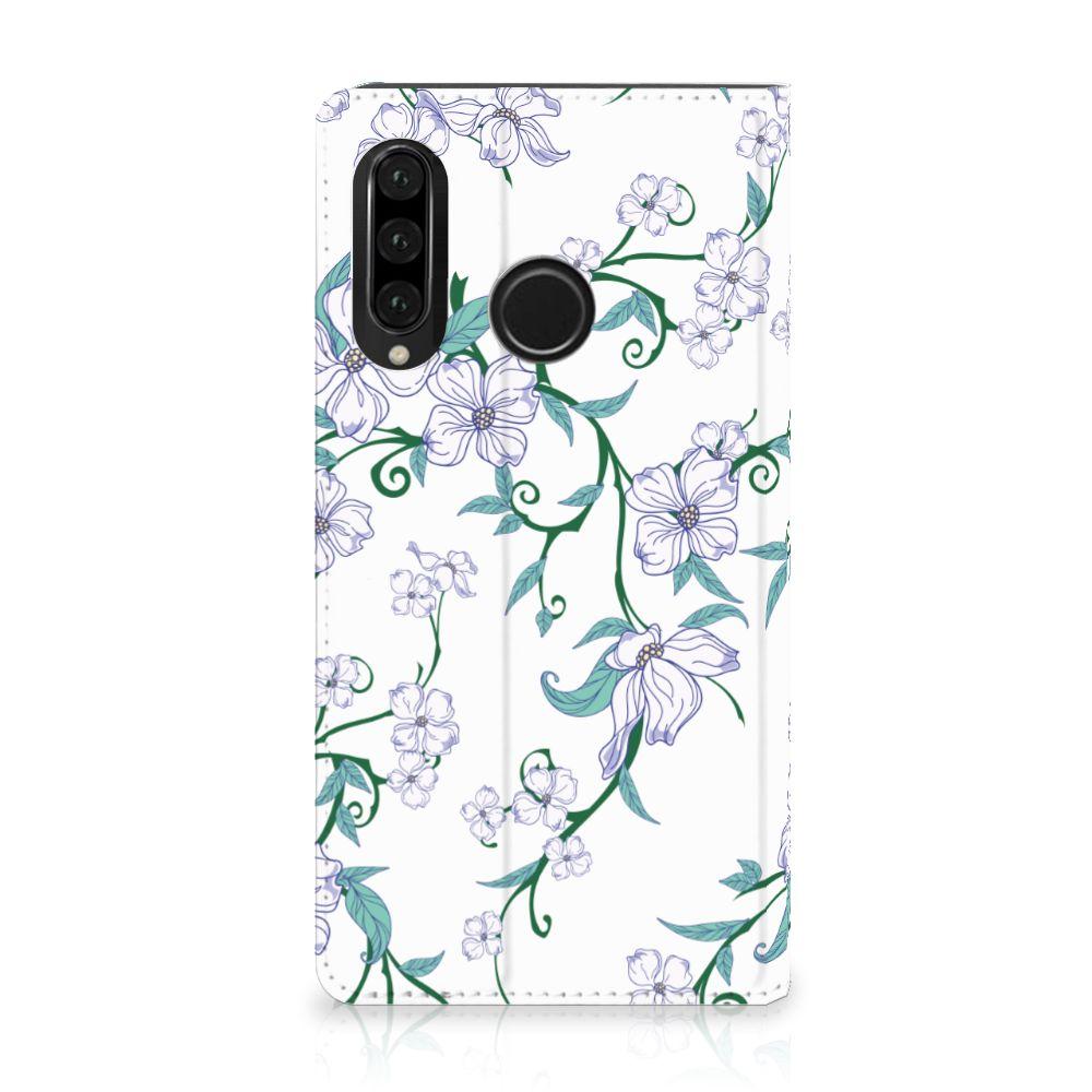 Huawei P30 Lite Uniek Standcase Hoesje Blossom White