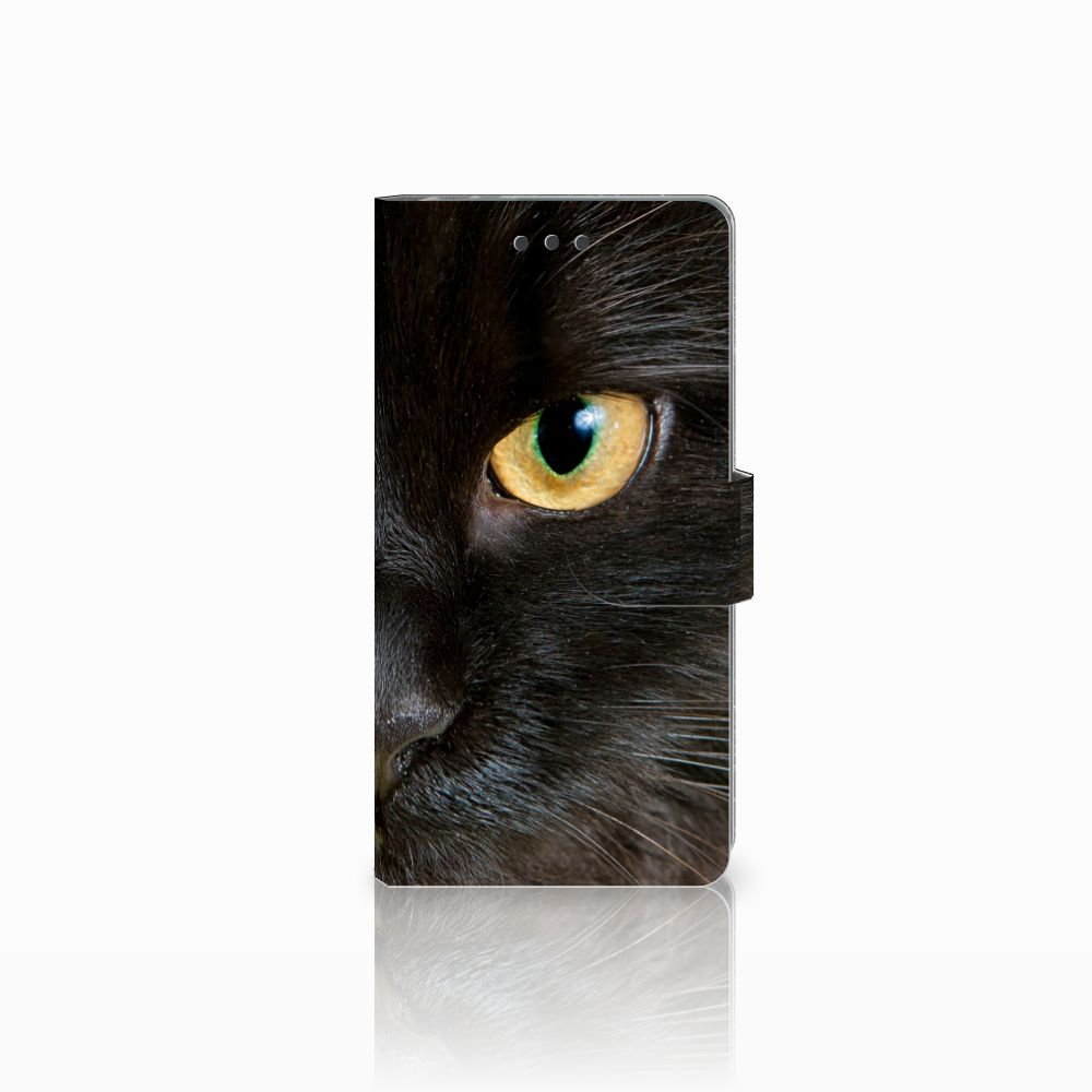 Sony Xperia E5 Uniek Boekhoesje Zwarte Kat