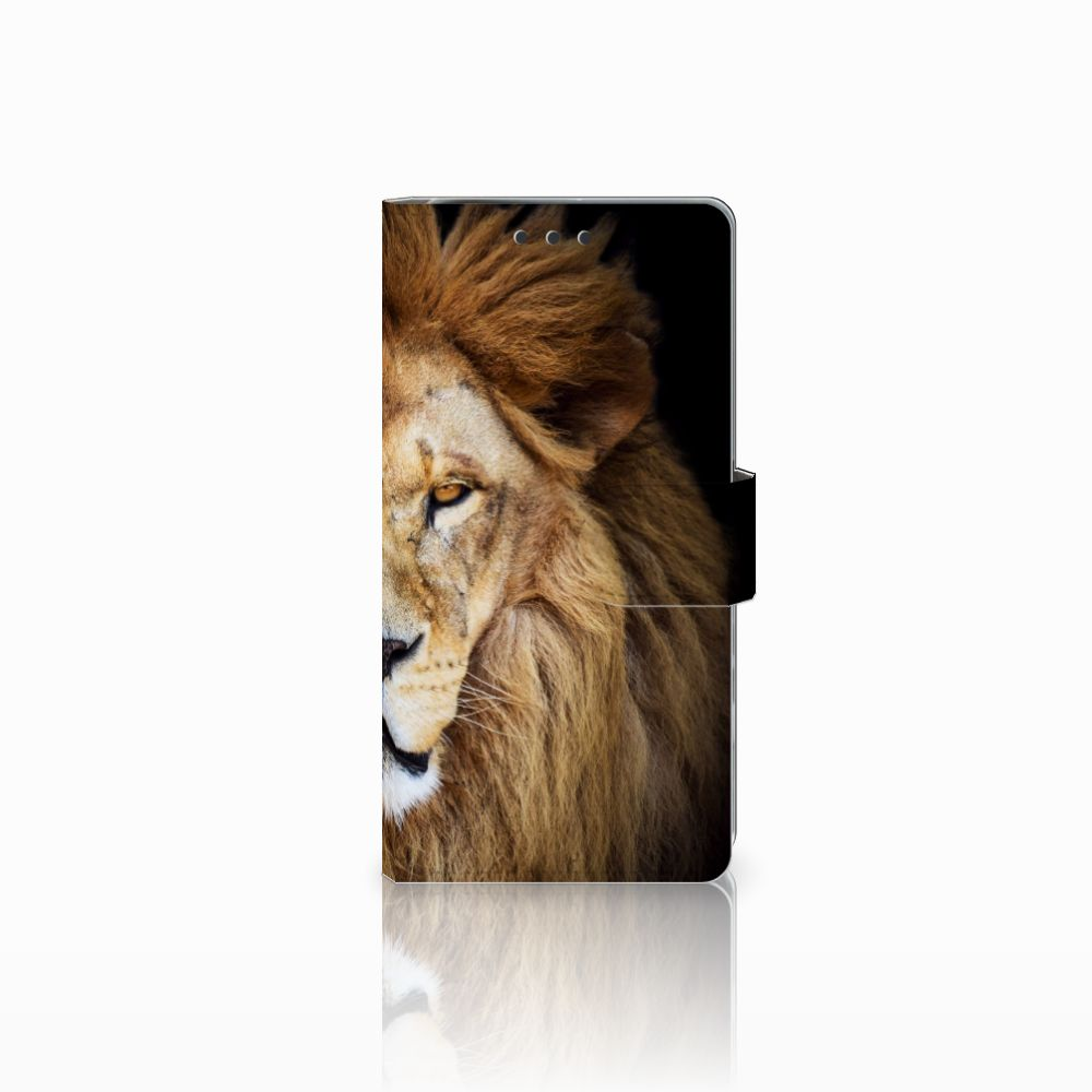 Sony Xperia X Performance Telefoonhoesje met Pasjes Leeuw