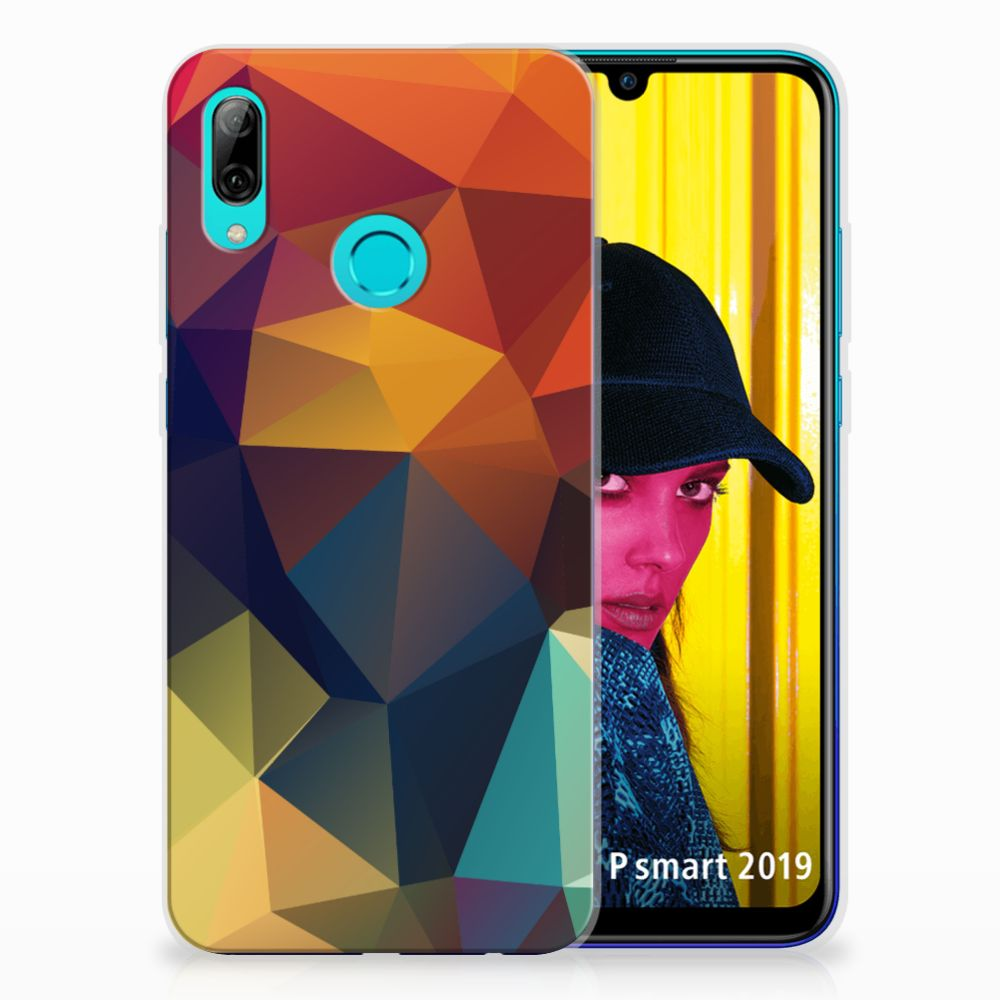 Huawei P Smart 2019 TPU Hoesje Polygon Color