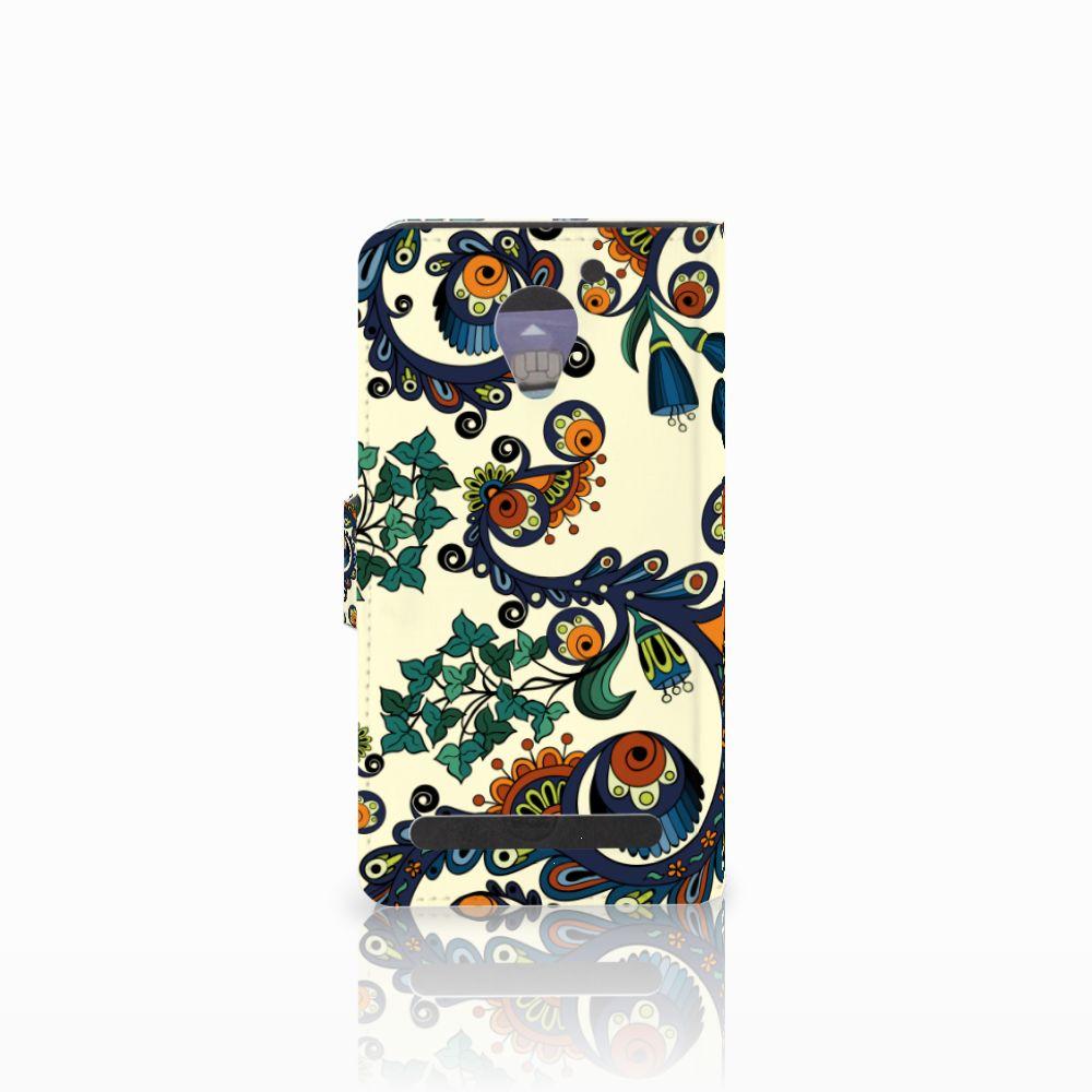 Wallet Case Lenovo C2 Power Barok Flower
