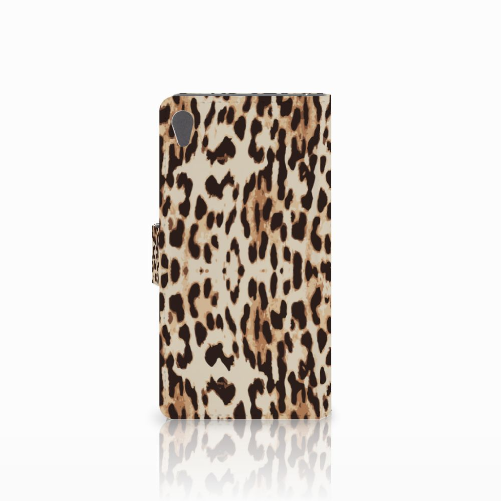 Sony Xperia E5 Telefoonhoesje met Pasjes Leopard
