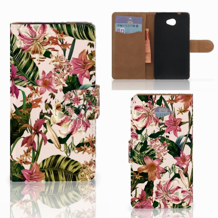 HTC Desire 601 Hoesje Flowers