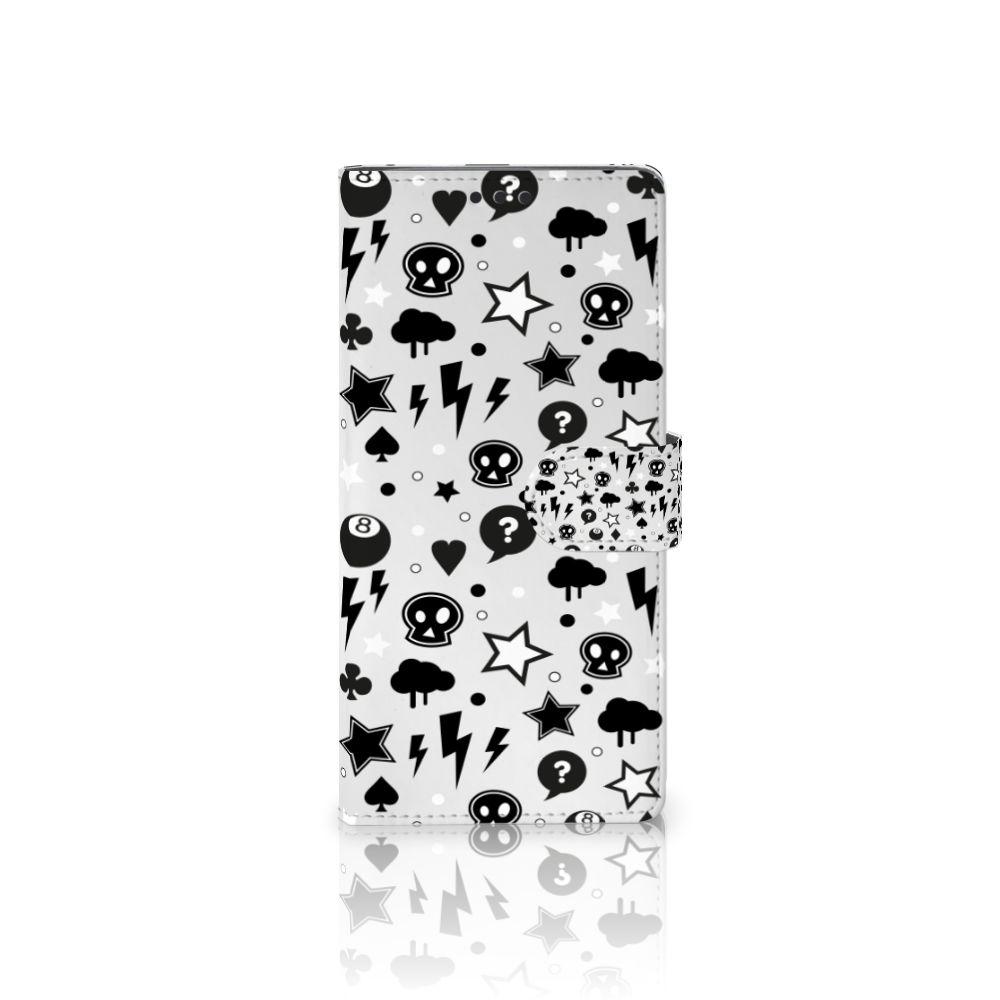 Sony Xperia XA Ultra Uniek Boekhoesje Silver Punk